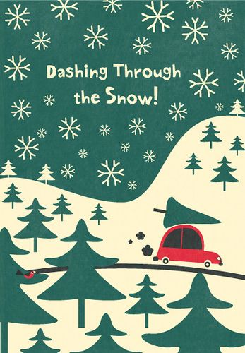 Dashing Through The Snow! Christmas card illustration by Steve Mack.