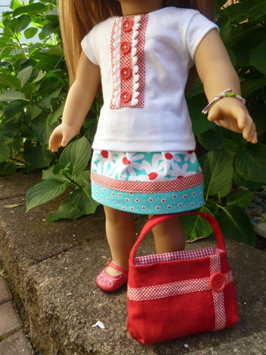 American Girl Doll Clothes  Daisy Delights 3 pc by AccordingtoEmma