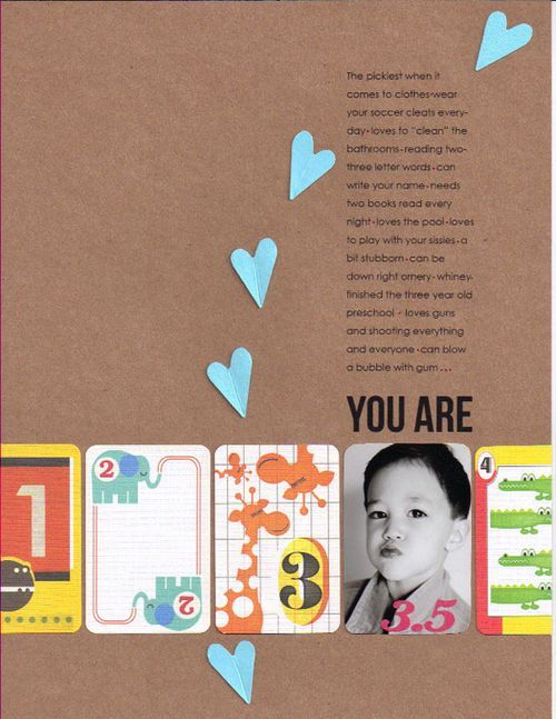 #papercraft #scrapbook #layout    Great combination of product and photo by Moon Ko.