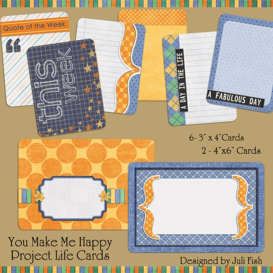 You make me happy and this week free journaling cards for project life