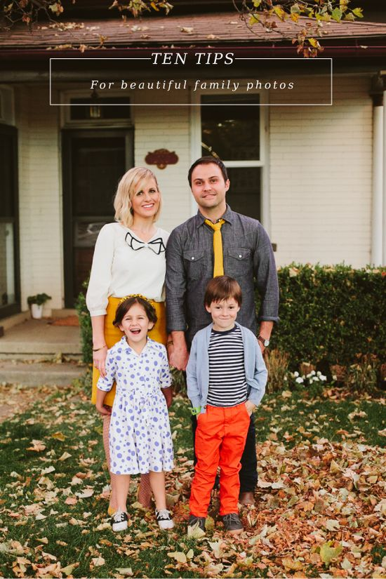 10 TIPS FOR BEAUTIFUL FAMILY PHOTOS