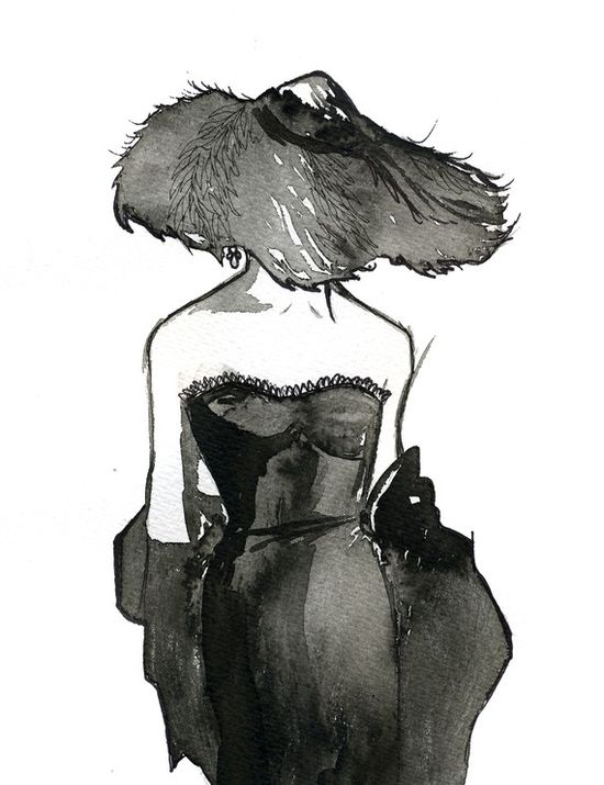 My #painting of a #Dior #vintage #fashion ad. #fashion #illustration