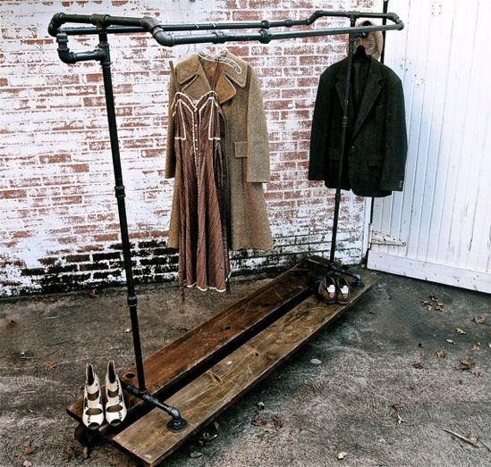 Industrial rolling garment rack