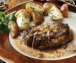 Beef Tenderloins with Wine Sauce - Recipe.com