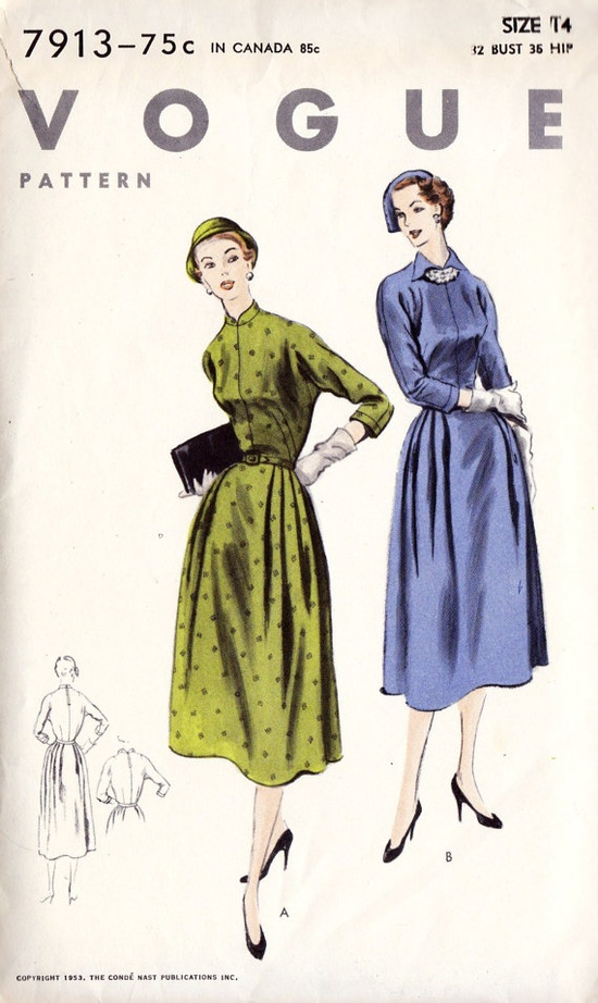 1950s Misses Dress Pattern