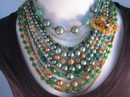 great use for vintage jewelry