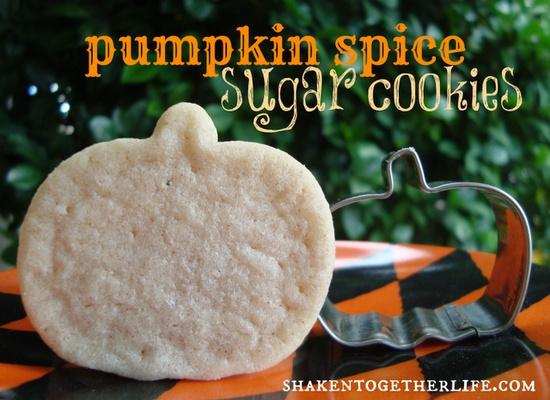 shaken together:  {taste this} easy pumpkin spice sugar cookies