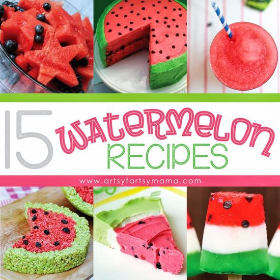 15 Watermelon Recipes by artsyfartsymama.com - such an awesome collection!