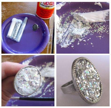 Thanks, I Made It: DIY Glitter Ring