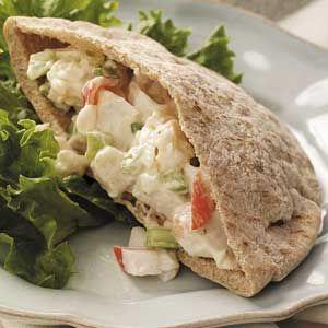 Seafood Salad Pitas Recipe
