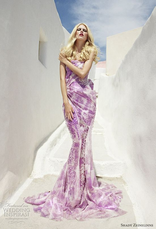 Shady Zeineldine purple wedding dress and couture gown  #EasyPin