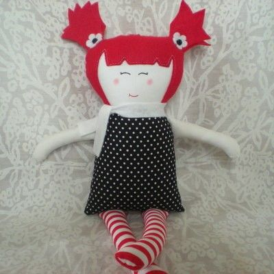 Cute handmade dolly by Secelie on Etsy