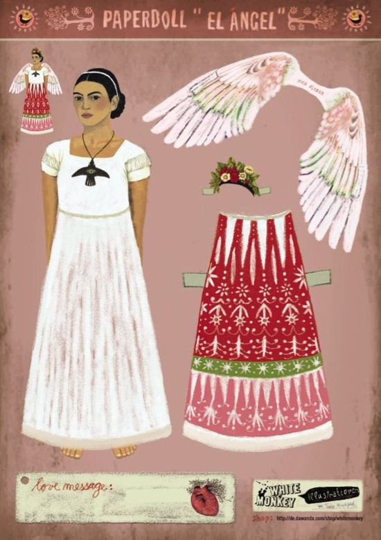 """Other – Paperdoll """"Engel"""" – a unique product by Whitemonkeydesign on DaWanda"""