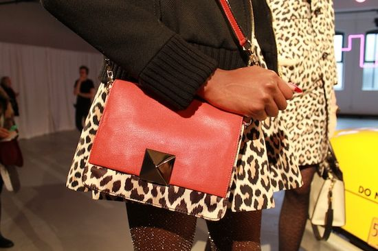 the cutest leopard + red bag at kate spade {fall 2013}