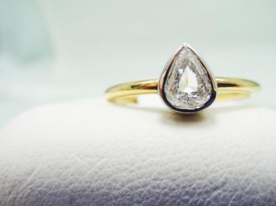 Pear-shaped diamond #engagement #ring $1,100