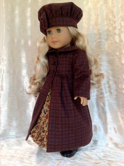 Flannel coat and hat, and dress, bloomers. $128.00, via Etsy.