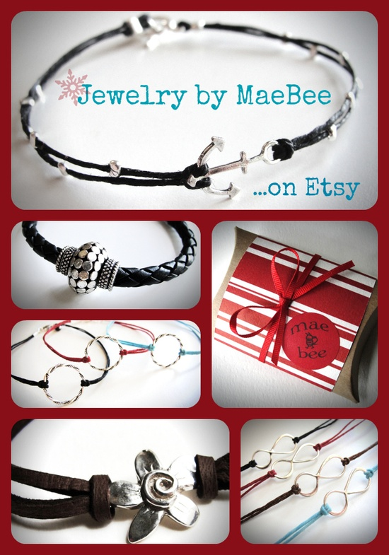 Still time to order for Christmas!...Hip, casual bracelets from JewelryByMaeBee on Etsy.