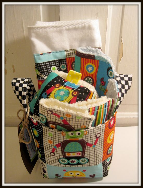 Robots Baby Gift Set by EmmaGirlDesigns on Etsy, $34.50