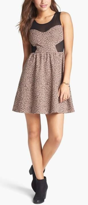 This Fit & Flare Dress is so cute!