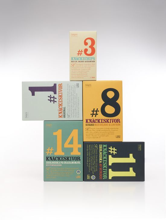 Delights of Sweden / some bright & graphic packaging from Swedish design agency A-B-D.