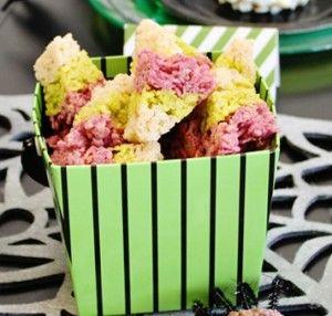 candy corn rice krispies treats...super cute!