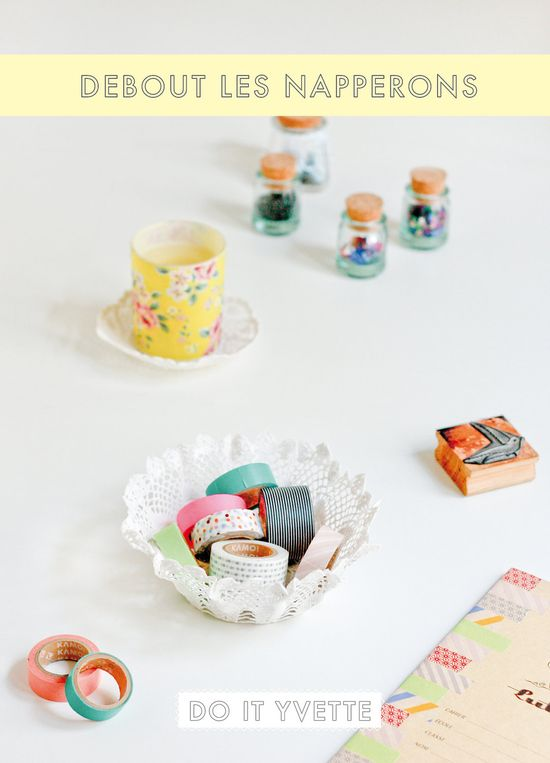 Kit Do It Yourself - Coupelle en napperons vintage - DIY