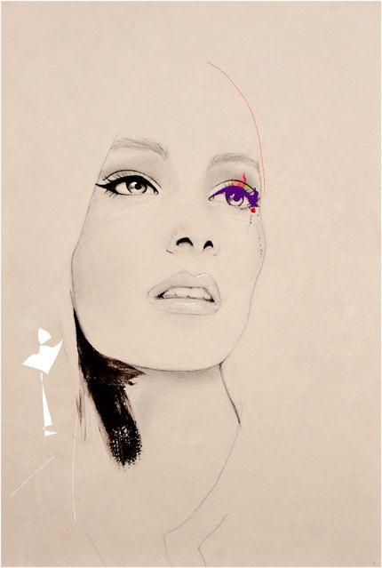 Before Show  Fashion Illustration Art Print