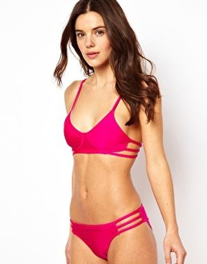 a pop of pink #swimwear {click to shop!}