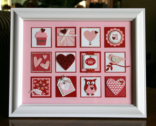 Valentine's day Collage. Stampin Up!