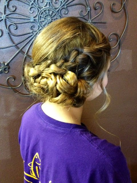 braided updo #updo #braids #hair