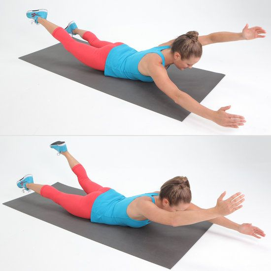 Five minute back workout