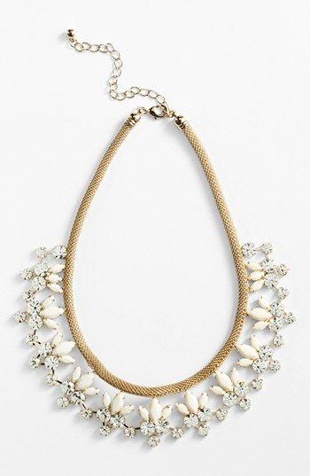 Natasha Couture floral statement necklace.