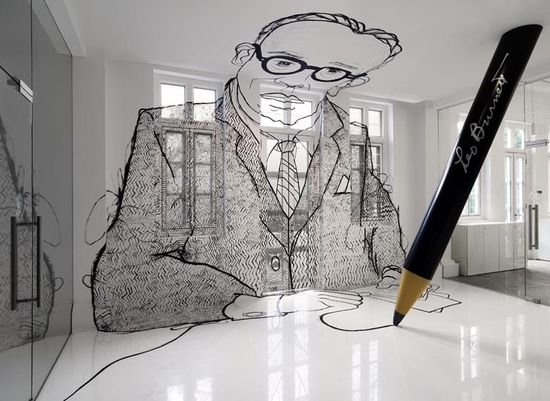 Modern Office Interior Design - Leo Burnett  #modern #office #interior #design #burnett  What if we have lifesize illustrations like this?