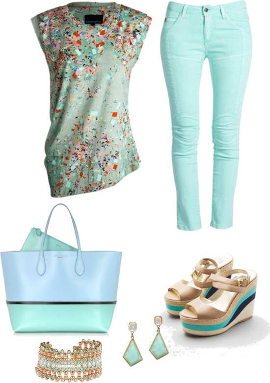 """Spring Mint"" by musicfriend1 ❤ liked on Polyvore"