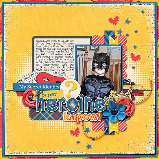 Super Heroine - Scrapbook.com