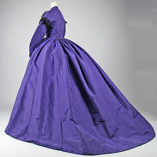 Dress, Visiting  Date: 1863–65 Culture: American Medium: silk, cotton, glass