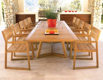 Gloster Outdoor Furniture--if you like teak, this set has contemporary lines