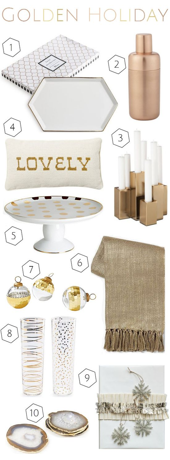 gold holiday decor + gifts // Simplified Bee #gold #holiday #decor