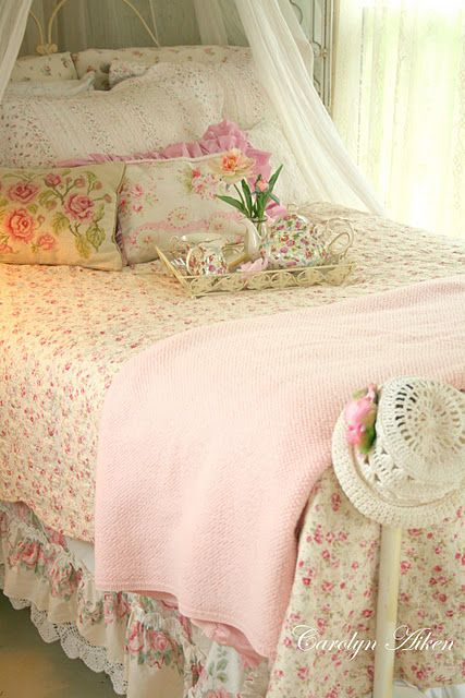 Home Furnishings:  A sweet cottage bed.