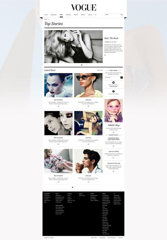vogue.co.uk on Web Design Served