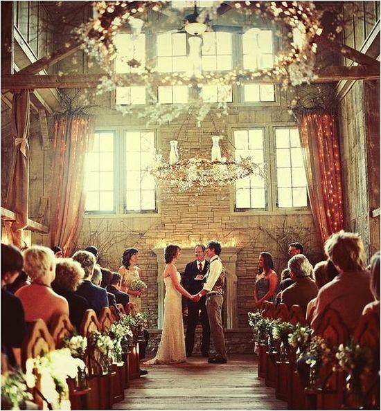 Enchanting indoor ceremony