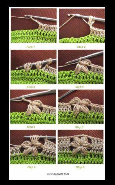 Crochet flower arrangement