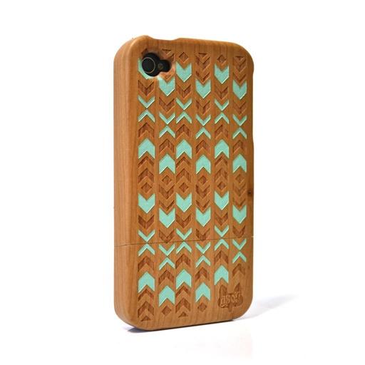 Wood Geometric iPhone Case