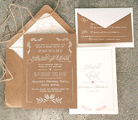 Would you come to our wedding?  #Brown #weddings #invitation #stationery