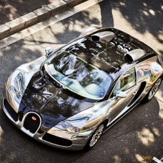 10 Beautiful and Fast Sport Cars - Bugatti Veyron! BLACK AND CHROME