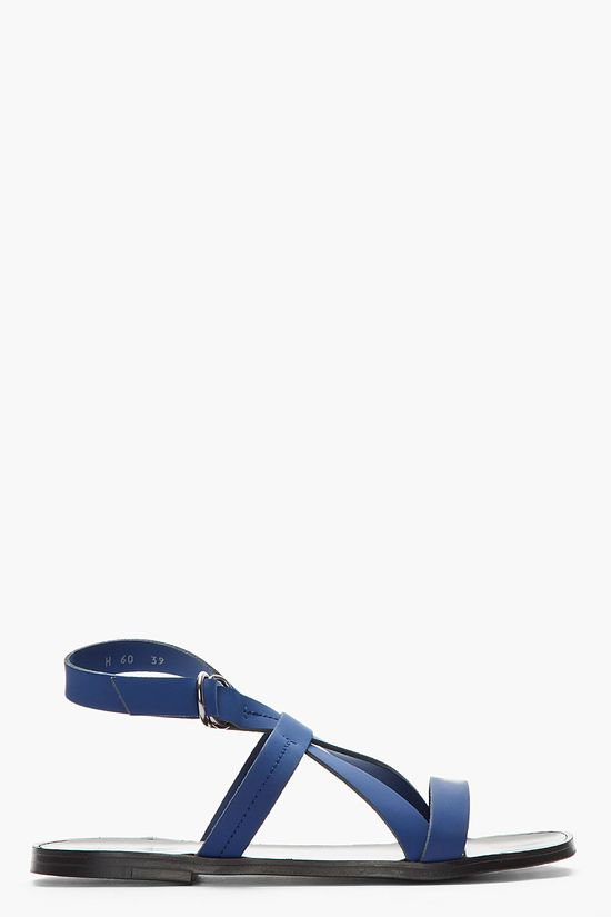 PIERRE HARDY Navy Leather EH60 Gladiator Sandals
