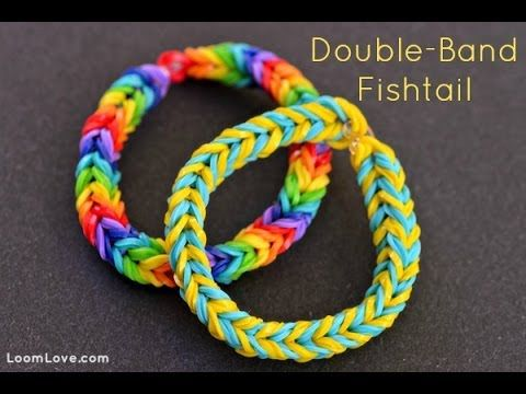How-to: Make a Double Band Fishtail Bracelet #rainbow #loom