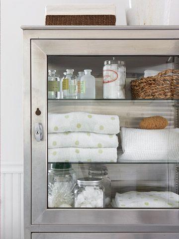 Rejuvenation Bath: industrial-inspired bathroom storage cabinet