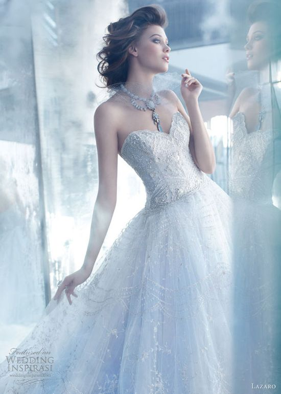 lazaro wedding dresses spring 2013 tulle ball gown hand embroidered overlay sweetheart close up