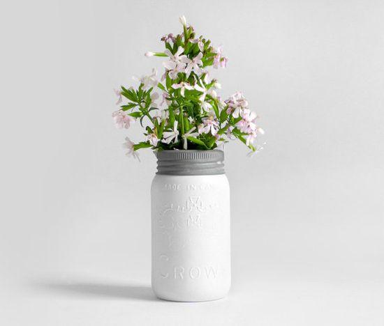 Mason Jar - Glass, Ball, Crown, Wedding, Vase